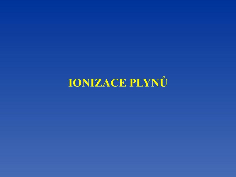 IONIZACE PLYNŮ