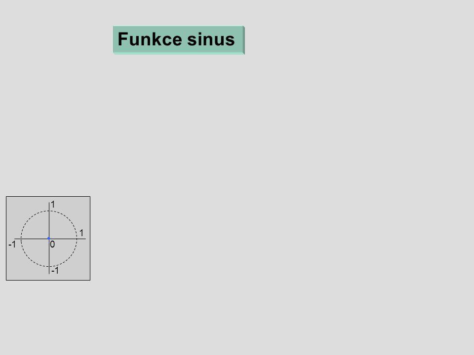 Funkce sinus 1 1 0