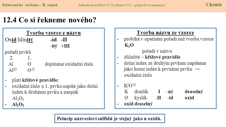 12.4 Co si řekneme nového.Elektronická učebnice - II.