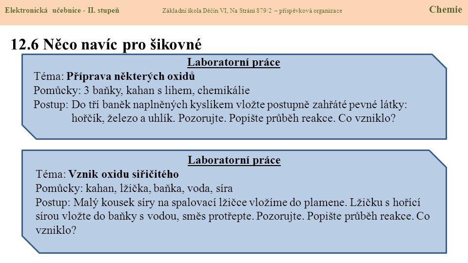 12.6 Něco navíc pro šikovné Elektronická učebnice - II.