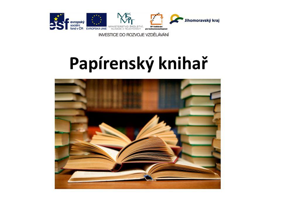 Papírenský knihař