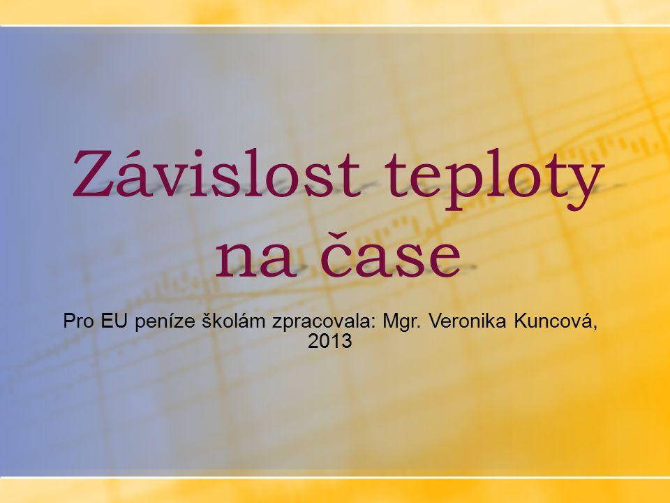 Závislost teploty na čase Pro EU peníze školám zpracovala: Mgr. Veronika Kuncová, 2013