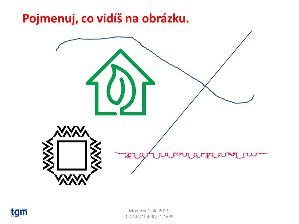 Moderní škola 2011, CZ.1.07/1.4.00/21.1692 Pojmenuj, co vidíš na obrázku.