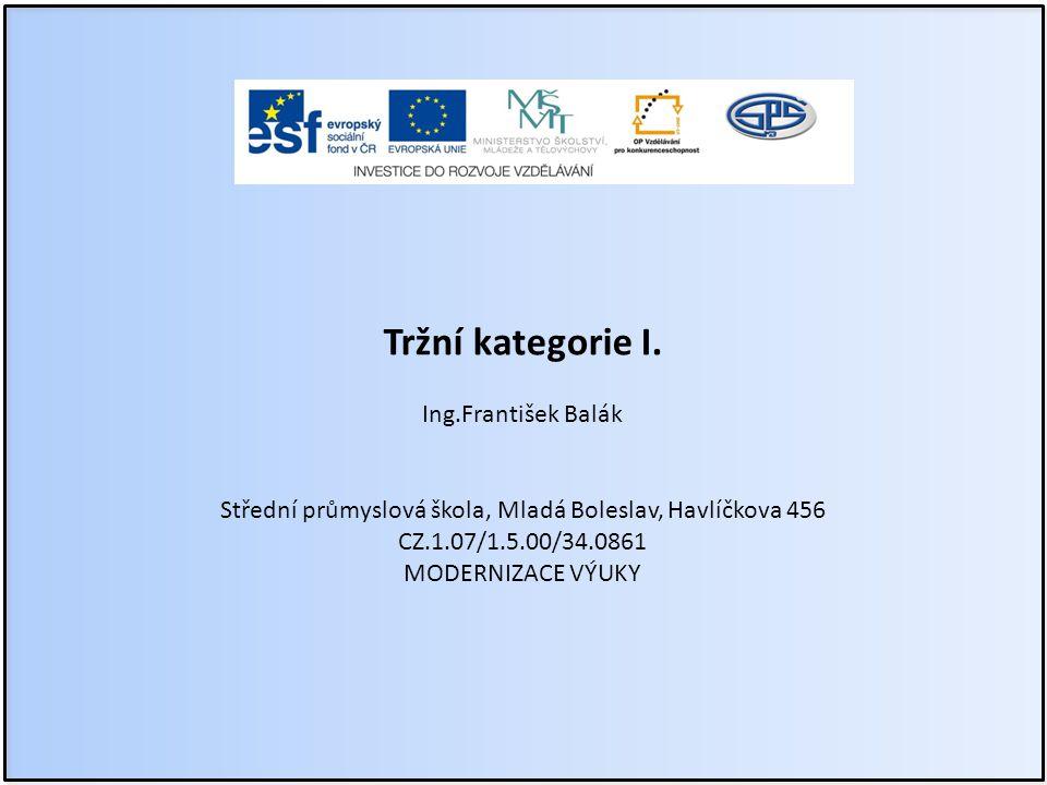Anotace Předmět: ekonomika Ročník: II.ročník SPŠ Tématický celek: I.