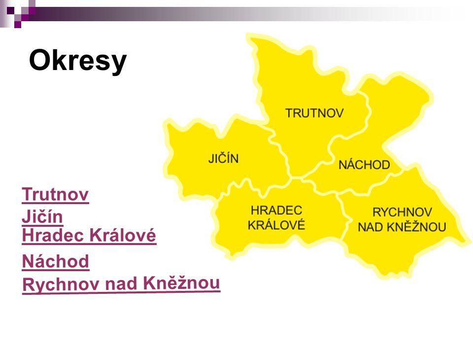 Okresy Trutnov Jičín Náchod Hradec Králové Rychnov nad Kněžnou