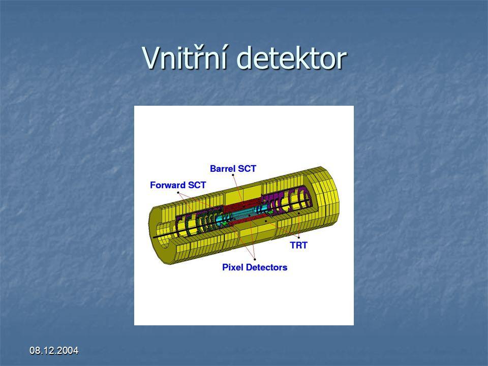 08.12.2004 Monte Carlo simulace  skutečná geometrie a materiálové složení  simulace protonových kolizí (PYTHIA)  simulace reakcí, jejich pozic a produktů (100 dnů)  rozpad jader => generace zpožděného gamma záření  spektra gamma záření a nab.