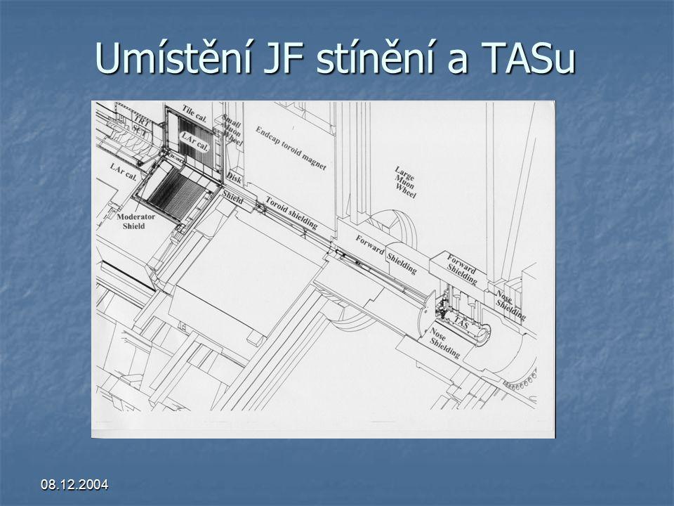 08.12.2004 Umístění JF stínění a TASu
