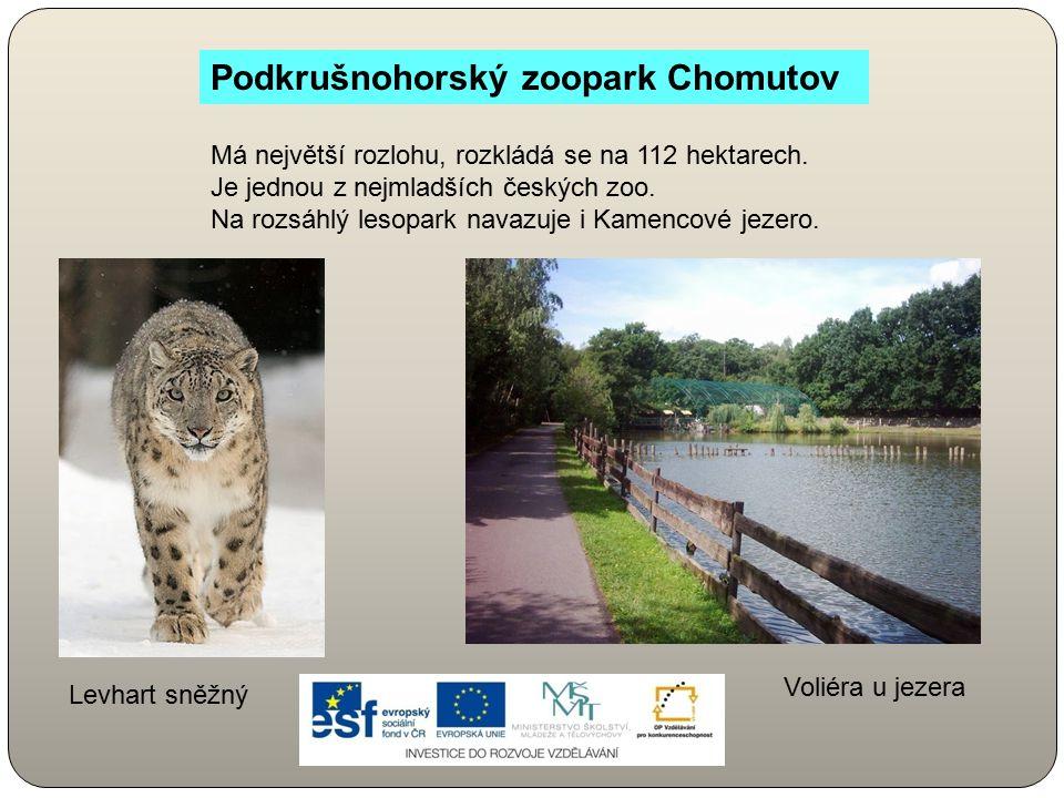 Má největší rozlohu, rozkládá se na 112 hektarech. Je jednou z nejmladších českých zoo. Na rozsáhlý lesopark navazuje i Kamencové jezero. Podkrušnohor