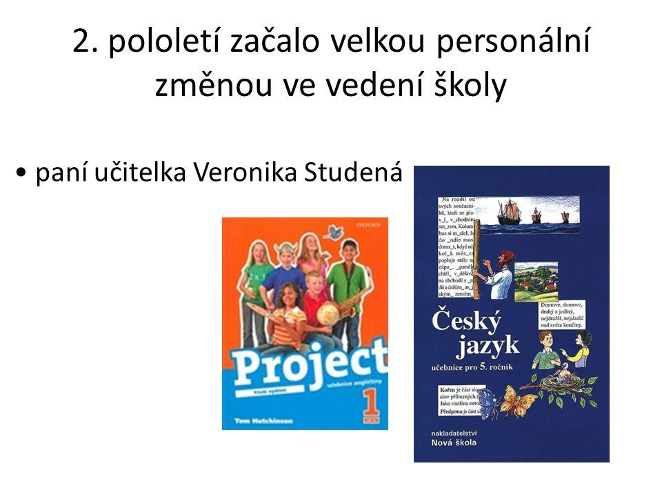 2. pololetí začalo velkou personální změnou ve vedení školy paní učitelka Veronika Studená