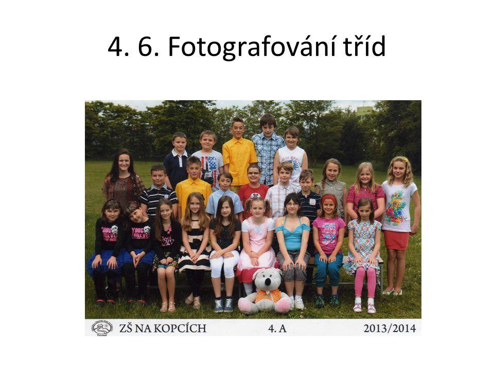 4. 6. Fotografování tříd