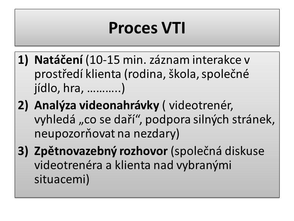Proces VTI 1)Natáčení (10-15 min.