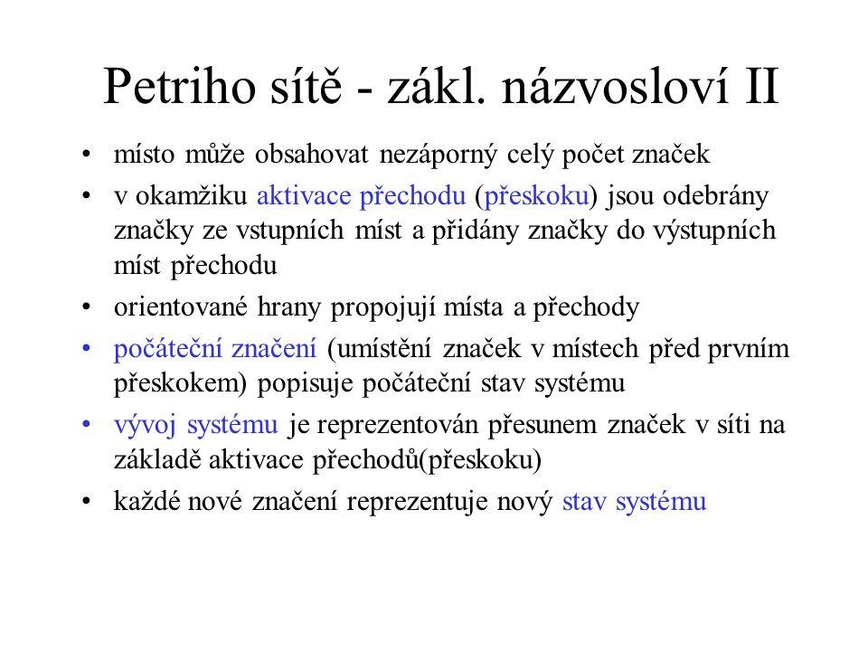 Petriho sítě - zákl.