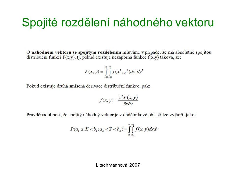 Litschmannová, 2007 Spojité rozdělení náhodného vektoru