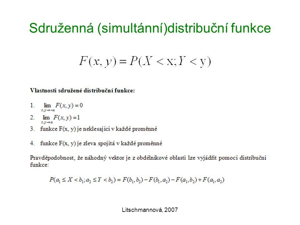Litschmannová, 2007 Sdruženná (simultánní)distribuční funkce
