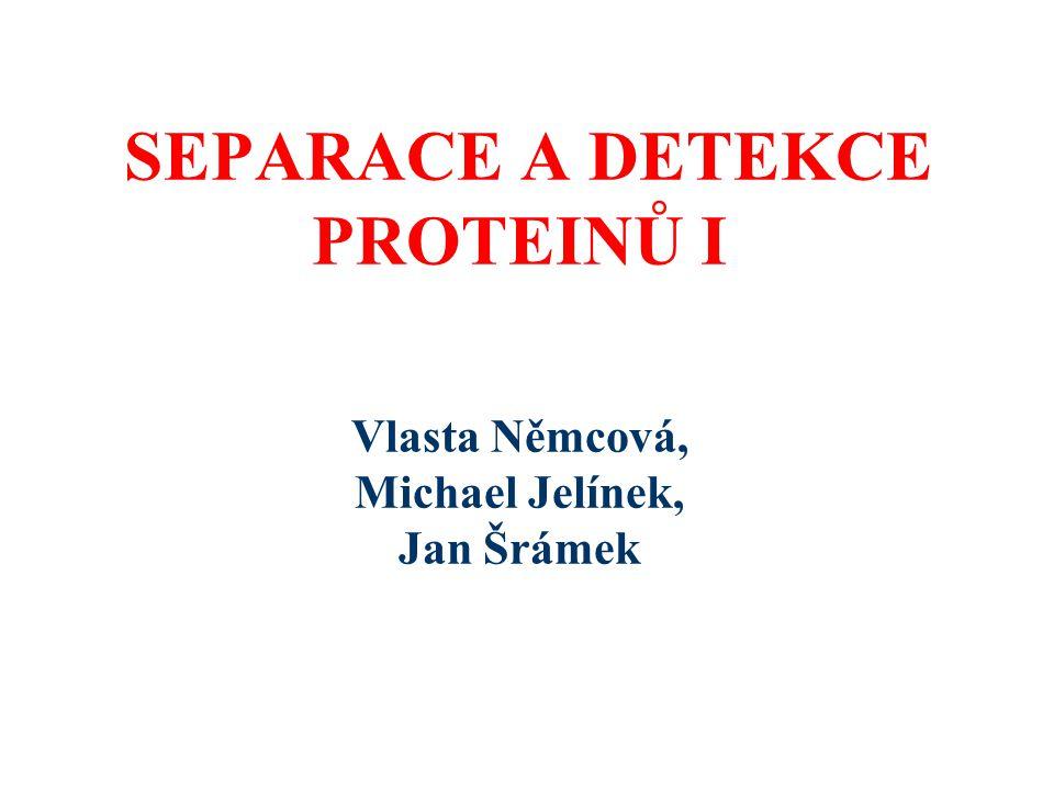 SEPARACE A DETEKCE PROTEINŮ I Vlasta Němcová, Michael Jelínek, Jan Šrámek