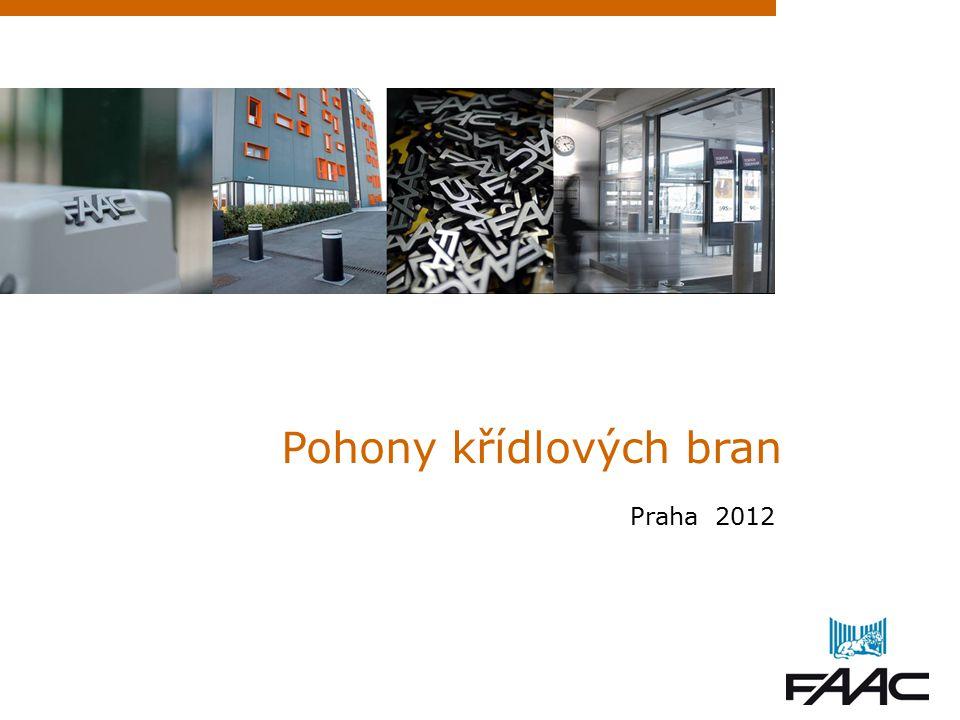 Pohony křídlových bran Praha 2012