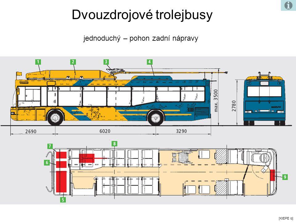 [KIEPE b] Dvouzdrojové trolejbusy jednoduchý – pohon zadní nápravy