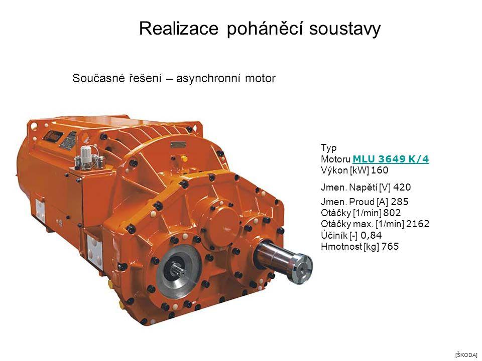 Typ Motoru MLU 3649 K/4 MLU 3649 K/4 Výkon [kW] 160 Jmen. Napětí [V] 420 Jmen. Proud [A] 285 Otáčky [1/min] 802 Otáčky max. [1/min] 2 162 Účiník [-] 0
