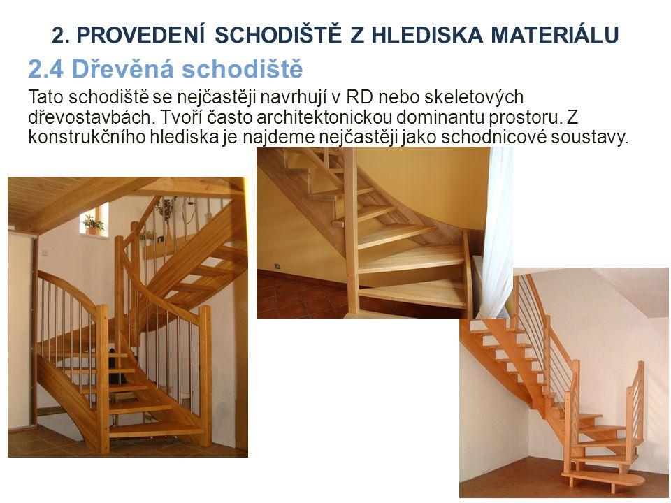 Tato schodiště se nejčastěji navrhují v RD nebo skeletových dřevostavbách.