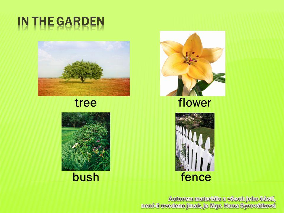 flower bush fence tree