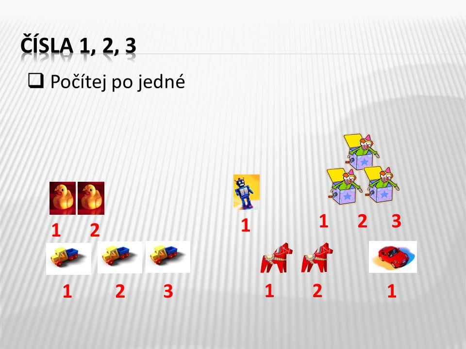 7  Počítej po jedné 1 2 1 2 3 1 1
