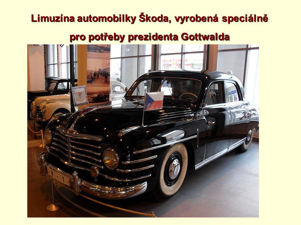 Limuzína automobilky Škoda, vyrobená speciálně pro potřeby prezidenta Gottwalda