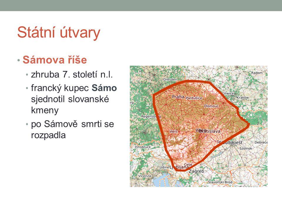 Státní útvary Velkomoravská říše 9.