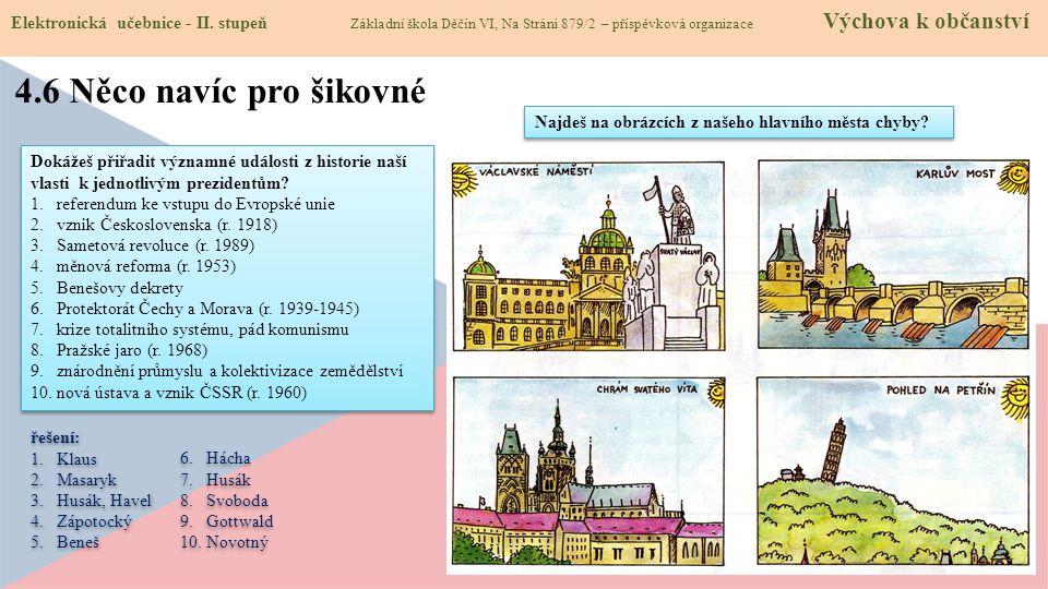 4.7 CLIL (Our homeland) Elektronická učebnice - II.