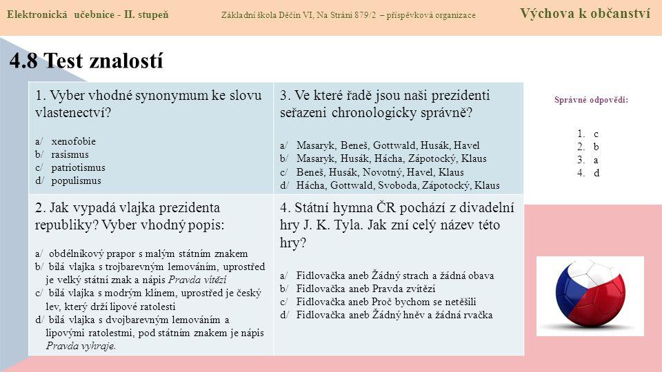 4.9 Použité zdroje, citace Elektronická učebnice - II.