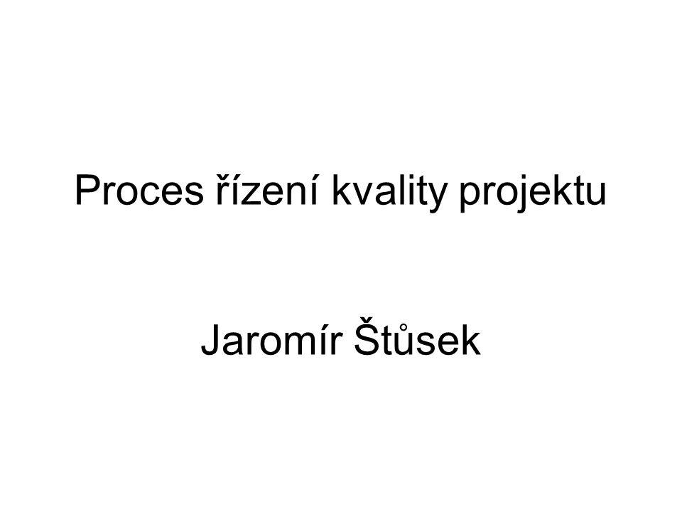 Řízení kvality Soubor plánovaných a systematických činností aplikovaných tak, aby: –Projekt zajistil uspokojení požadavků standardní kvality (požadavků zákazníků, zadavatelů apod.)