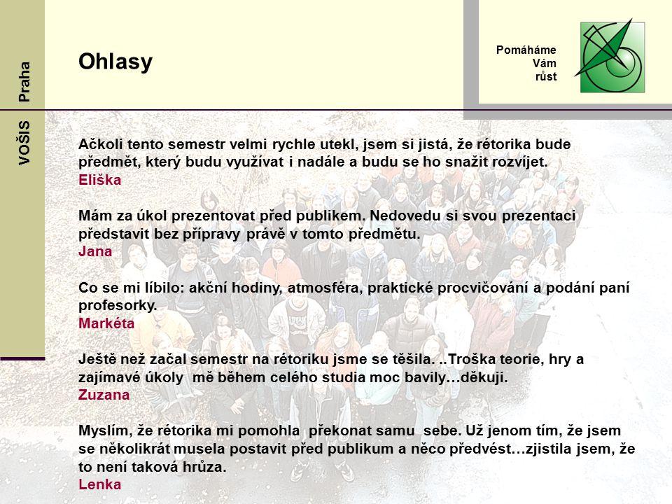 VOŠIS Praha Pomáháme Vám růst www.sks.cz www.hasl.slamow.info Zajímavé adresy