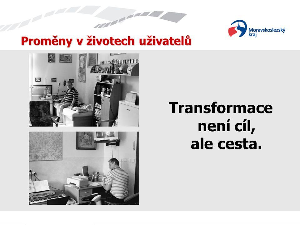 Proměny v životech uživatelů Transformace není cíl, ale cesta.
