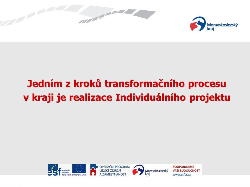 Jedním z kroků transformačního procesu v kraji je realizace Individuálního projektu