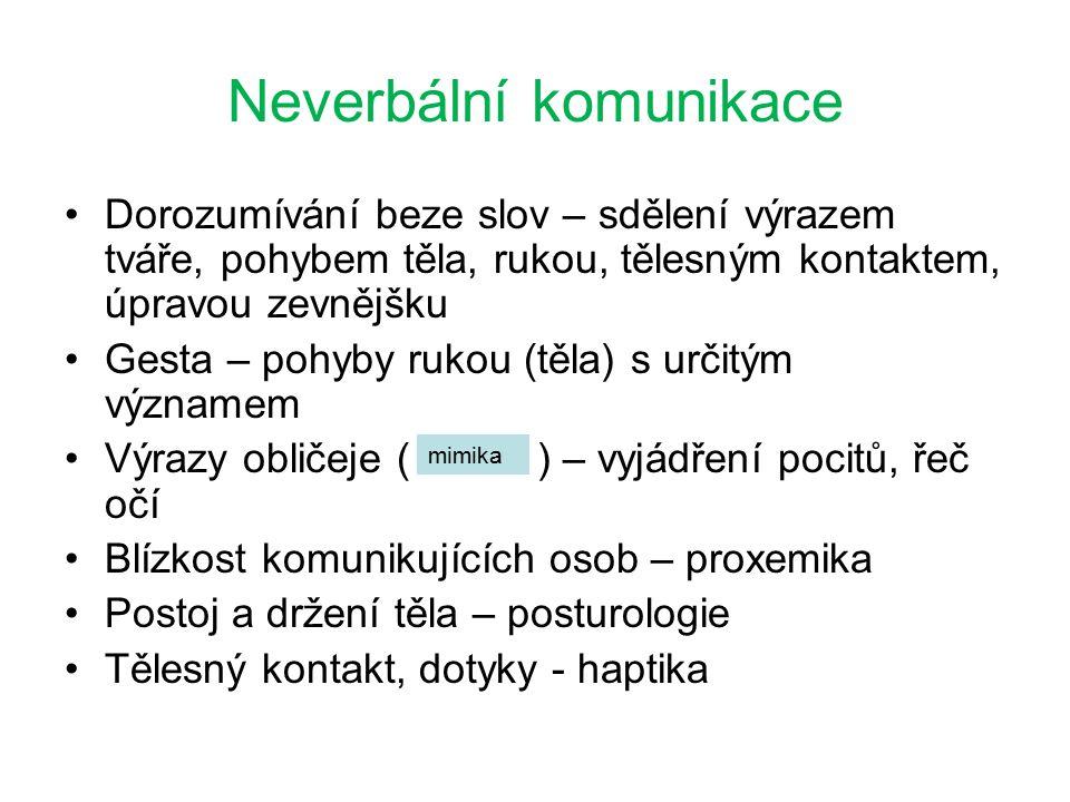 A)proxemiky B)gestiky C)mimiky ZA, 1.ročník / Komunikace/ Mgr.