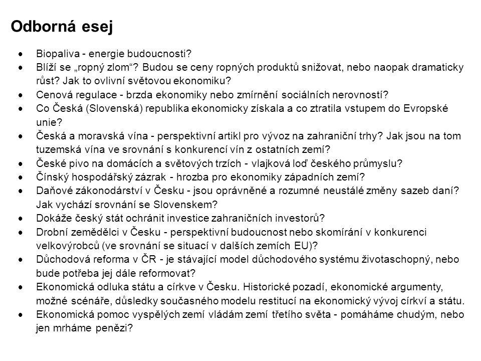 """Odborná esej  Ekonomická transformace v jednotlivých zemích """"východního bloku po roce 1989."""