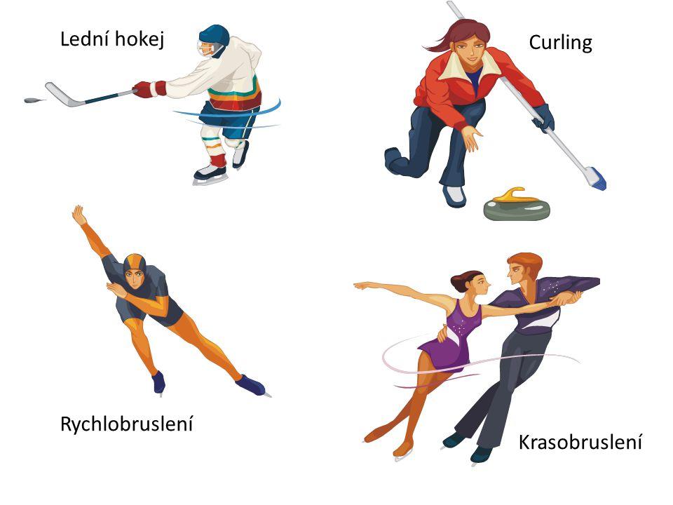 Lední hokej Curling Rychlobruslení Krasobruslení