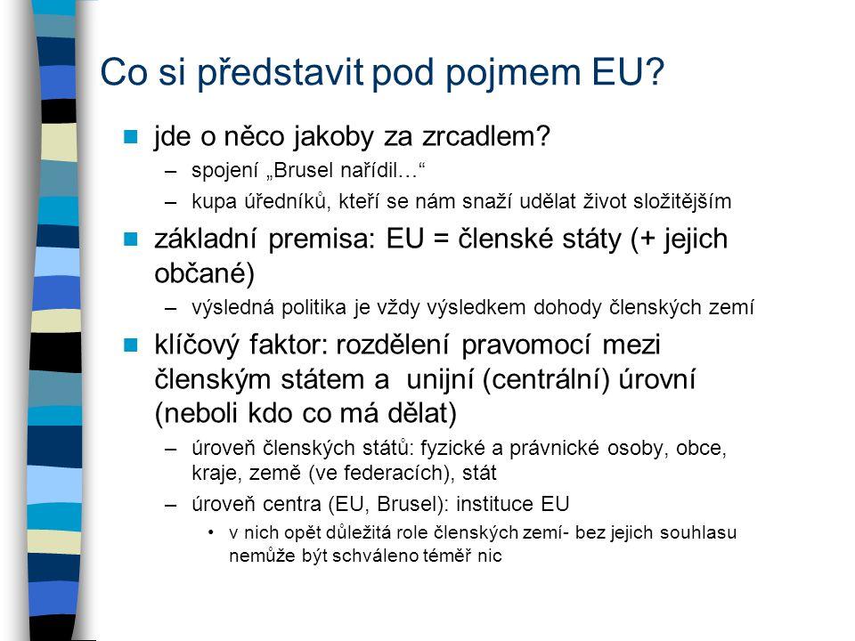 Co si představit pod pojmem EU. jde o něco jakoby za zrcadlem.