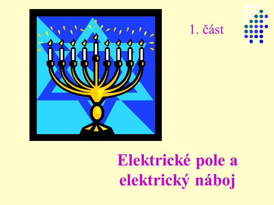 Elektrické pole a elektrický náboj 1. část