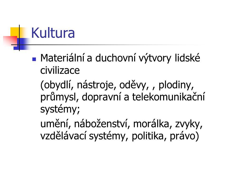 Mezikulturální psychologie Hofstede charakterizuje kulturu pomocí 4 dimenzí (na zákl.