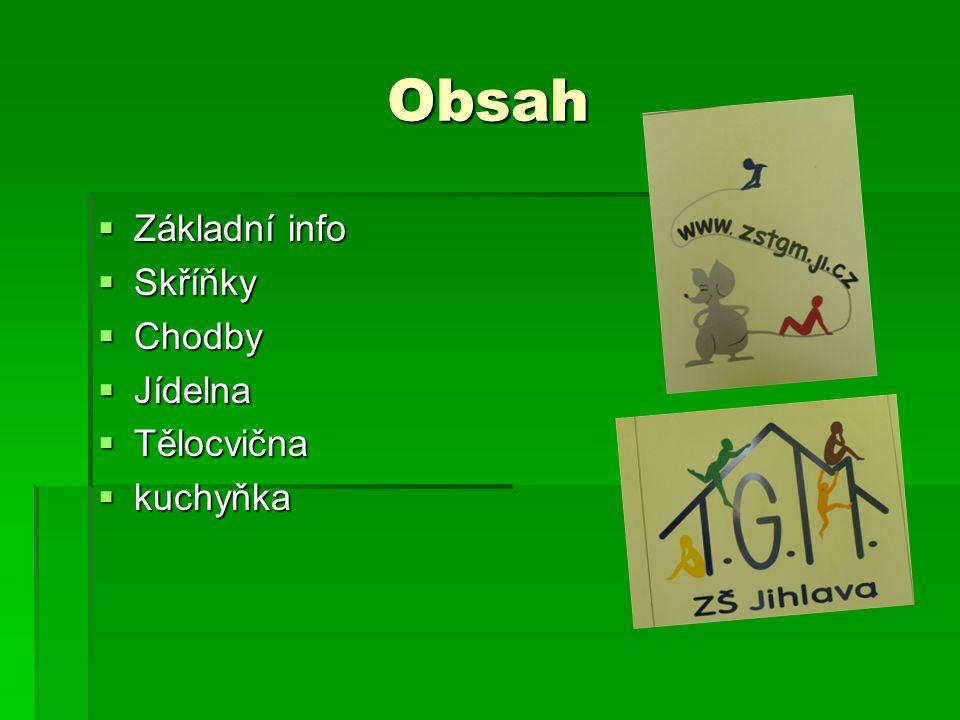 Základní info  Naše škola se nachází v ulici Žižkova 50  Vše co je možné je ovládáno na čipy