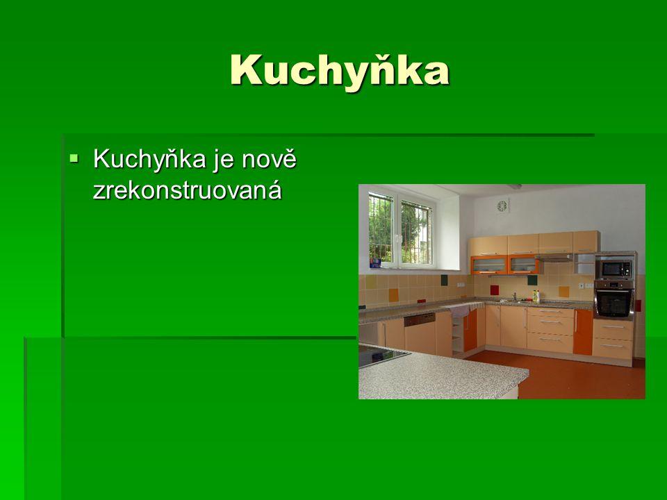 Kuchyňka  Kuchyňka je nově zrekonstruovaná