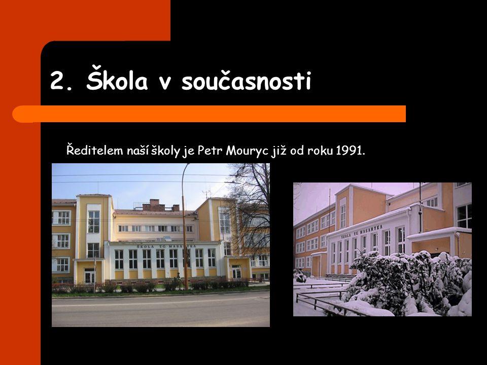 2. Škola v současnosti Ředitelem naší školy je Petr Mouryc již od roku 1991.