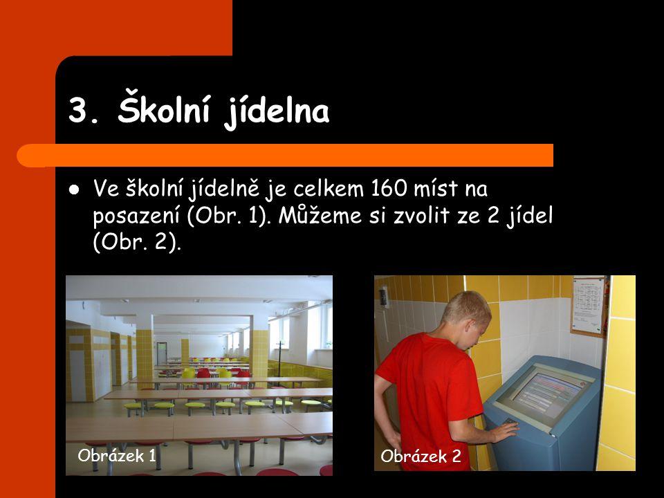 3. Školní jídelna Ve školní jídelně je celkem 160 míst na posazení (Obr. 1). Můžeme si zvolit ze 2 jídel (Obr. 2). Obrázek 1 Obrázek 2
