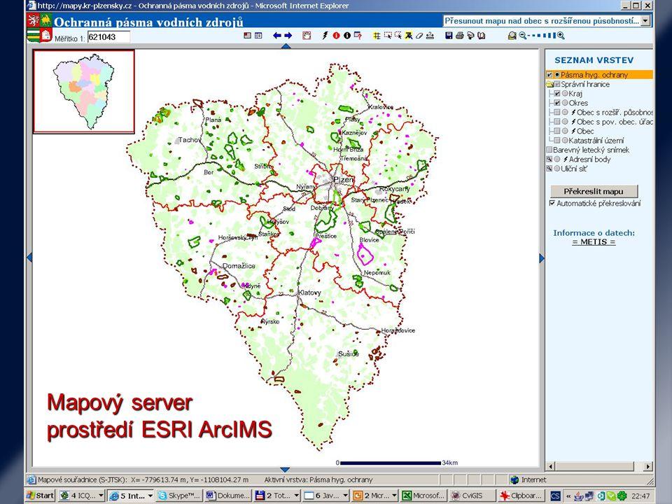Mapový server prostředí ESRI ArcIMS