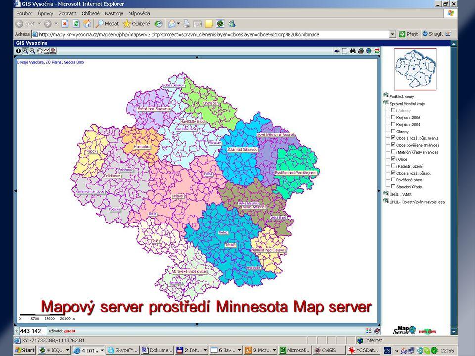Mapové servery Tematické zajímavosti svět Mapa světa (Blueworld) Mapa světa (Blueworld)Blueworld ESRI mapové zajímavosti (ESRI map, Geography Network) ESRI mapové zajímavosti (ESRI map, Geography Network)ESRI map Geography NetworkESRI map Geography Network Google (Maps, Earth) Google (Maps, Earth)MapsEarthMapsEarth Digital Chart of the World (volně stažitelná data světa - ArcExplorer) Digital Chart of the World (volně stažitelná data světa - ArcExplorer) Digital Chart of the World Digital Chart of the World Digitální model terénu – celý svět (USGS) Digitální model terénu – celý svět (USGS)USGS