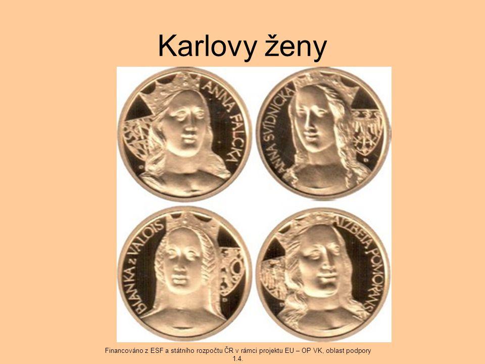 Karlovy ženy Financováno z ESF a státního rozpočtu ČR v rámci projektu EU – OP VK, oblast podpory 1.4.