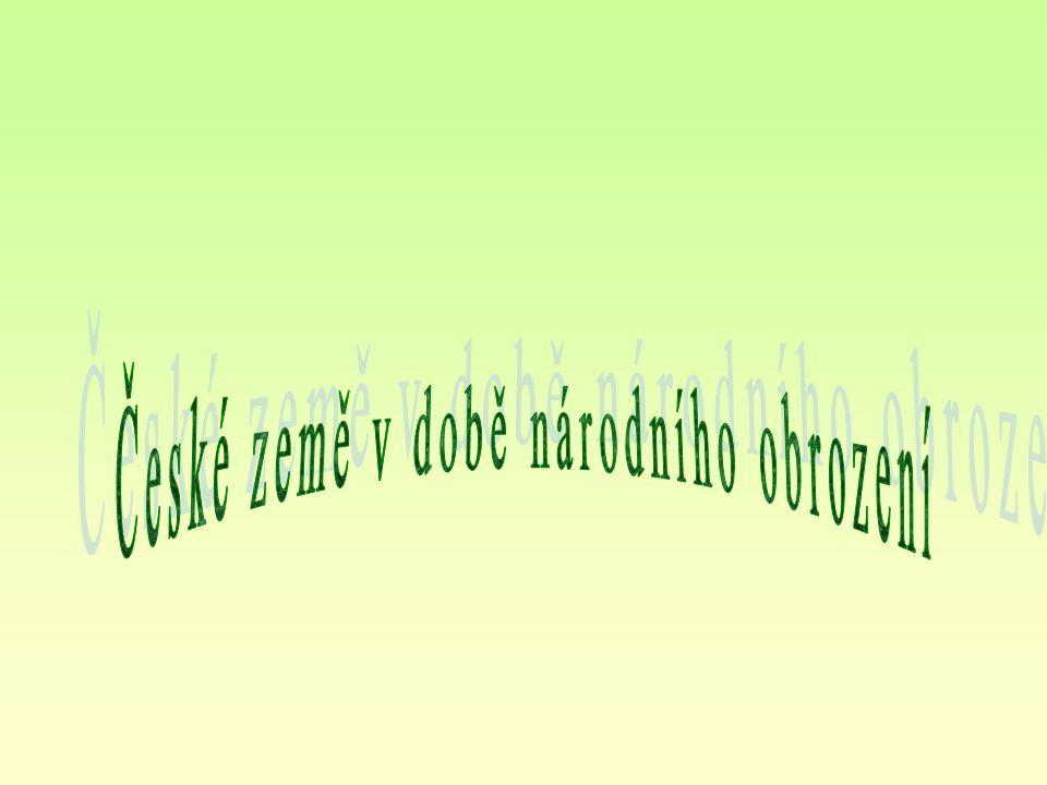 1770 - 1848 proces utváření a politické emancipace novodobého českého národa velký kulturní přerod, kdy český jazyk a literatura dosáhly úrovně jiných evropských kultur vedle jazykových změn i další společenské proměny - politické, sociální a ekonomické