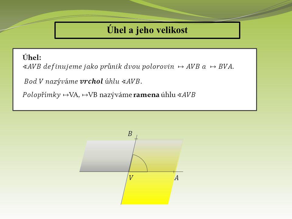 Pro měření úhlu používáme: Platí: b) Obloukovou míru, její jednotkou je radián (označujeme 1 rad)