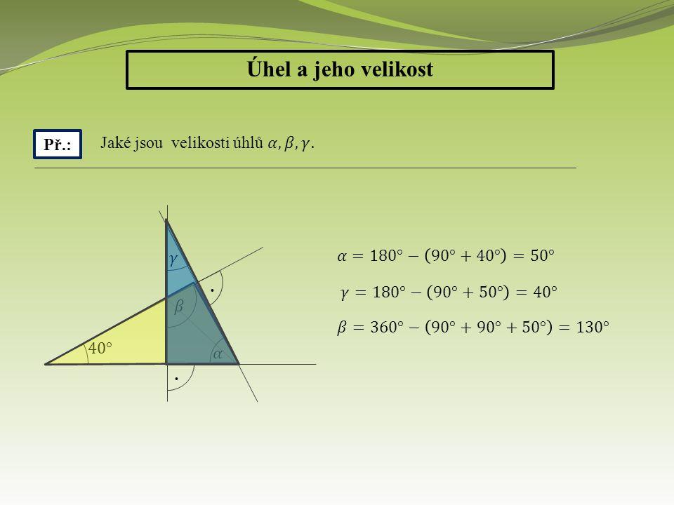 Anotace: Tato prezentace slouží k upevnění dovednosti určovat velikost úhlu.