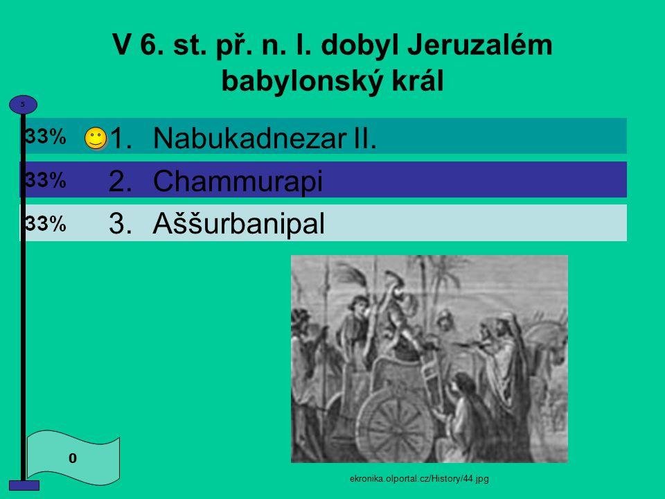Po Šalamounově smrti se království rozpadlo na dvě části. Souhlasíte? 1.Ano 2.Ne 0 5